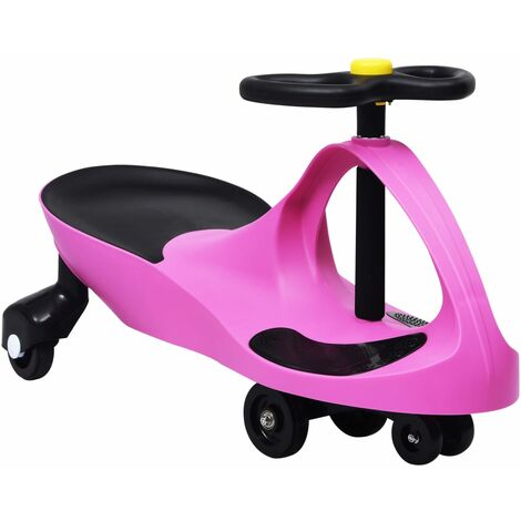 vidaXL Ride on Toy Wiggle Car Swing Car with Horn Pink - Pink