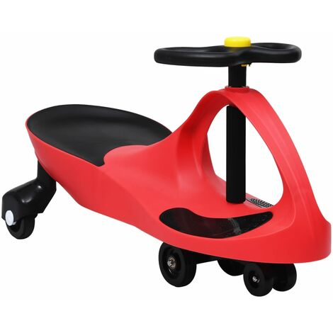 vidaXL Ride on Toy Wiggle Car Swing Car with Horn Red - Red