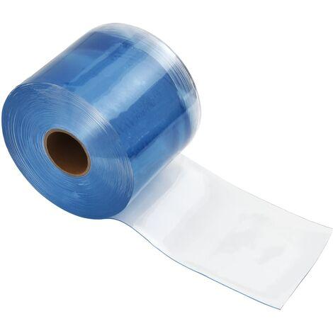 vidaXL Rollo de cortina de tiras PVC 2mm x 200mm 25 m - Transparente