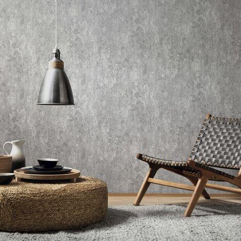 vidaXL Rollos de papel pintado no tejido 4 uds gris hormigón 0,53x10 m - Grigio