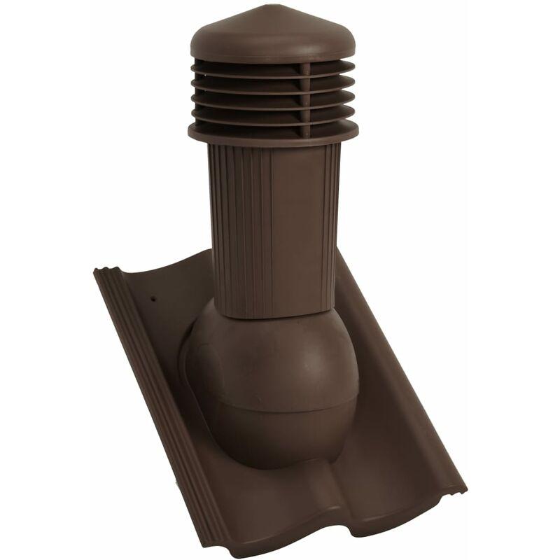 Roof Ventilator Brown - Vidaxl