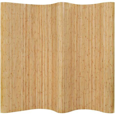 vidaXL Room Divider Bamboo 250x165 cm Natural - Beige