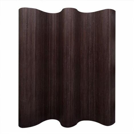 vidaXL Room Divider Bamboo Dark Brown 250x165 cm - Brown