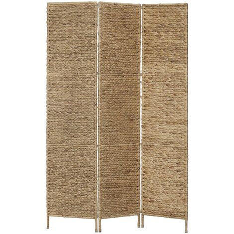 vidaXL Room Divider Water Hyacinth Privacy Screen Partition Panel Folding Home Living Room Bedoom Woven Screen Multi Colours Multi Sizes