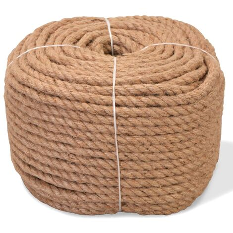 vidaXL Rope 100% Jute Boat Rope Cable Wire Decking Lifting Swing Multi Sizes