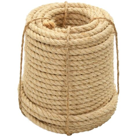 vidaXL Rope 100% Sisal 12 mm 50 m
