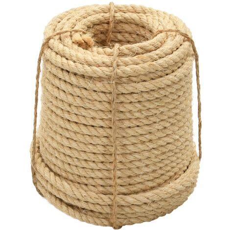 vidaXL Rope 100% Sisal 20 mm 50 m