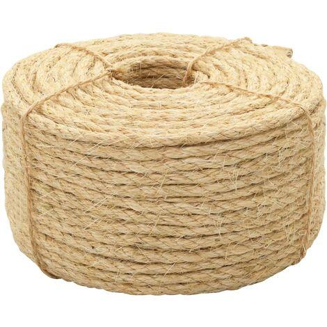vidaXL Rope 100% Sisal 6 mm 500 m