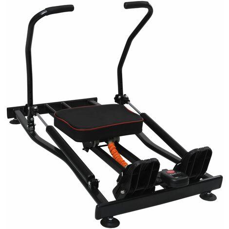 vidaXL Rowing Machine 4 Level Hydraulic Resistance