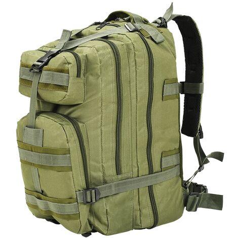 vidaXL Sac à Dos en Style Militaire 50 L Sac de Rangement Stockage Sac à Bagages Chasse Voyage Randonnée Camping Extérieur Multicolore