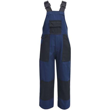 vidaXL Salopette à bavette pour enfants Taille 98 / 104 Bleu