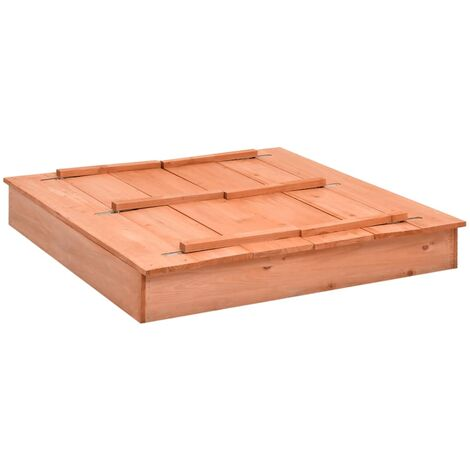 vidaXL Sandbox Firwood 95x90x15 cm