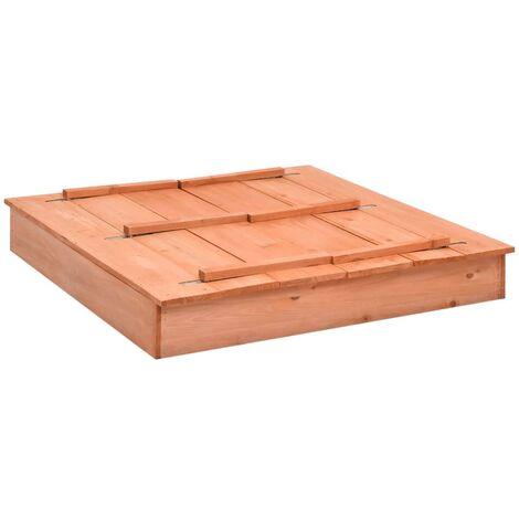 vidaXL Sandbox Firwood 95x90x15 cm - Brown