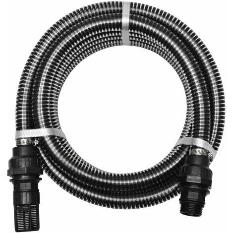 vidaXL Saugschlauch mit Anschlüssen Pumpe Ansauggarnitur mehrere Auswahl