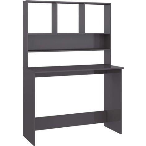 vidaXL Schreibtisch mit Regalen Bücherregal Computertisch Bürotisch Arbeitstisch PC Tisch Laptoptisch 110x45x157cm Spanplatte mehrere Auswahl