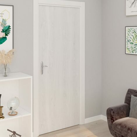 "main image of ""vidaXL Self-adhesive Door Films 2 pcs White Wood 210x90 cm PVC - White"""