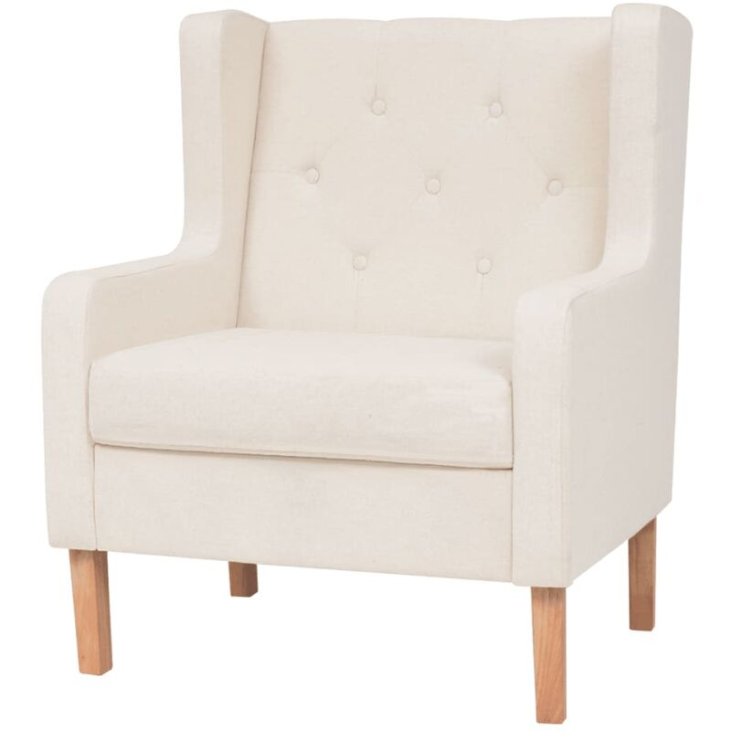 Vidaxl - Sessel Stoff Cremeweiß