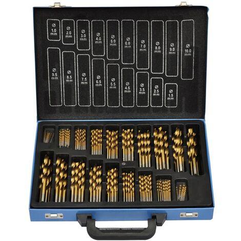vidaXL Set de Brocas en Caja 170 Piezas Metal HSS TI