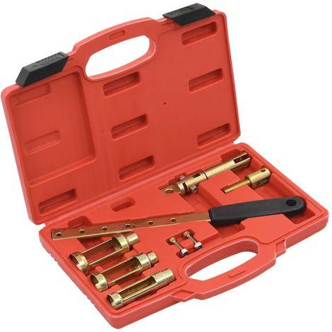 vidaXL Set de herramientas compresor de muelles de valvula 8 piezas