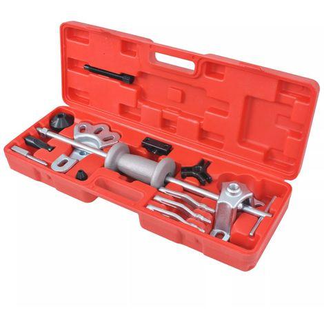 vidaXL Set extractor de martillo de inercia 9 modos 17 piezas