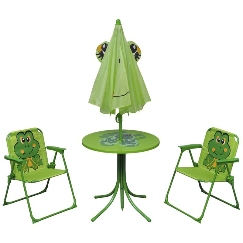 Mobili Da Giardino Per Bambini.Set Da Bistrot Da Giardino Per Bambini Con Ombrellone Verde