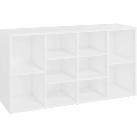 "main image of ""vidaXL Shoe Bench White 103x30x54.5 cm Chipboard - White"""