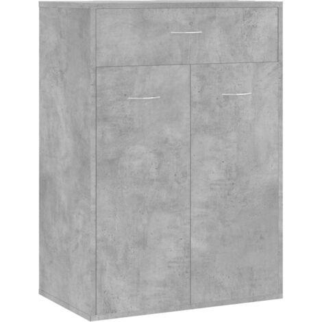 vidaXL Shoe Cabinet Concrete Grey 60x35x84 cm Chipboard - Grey