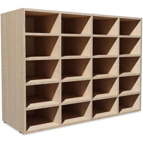 vidaXL Shoe Rack Chipboard 92x30x67,5 cm Footwear Storage Cabinet White/Oak