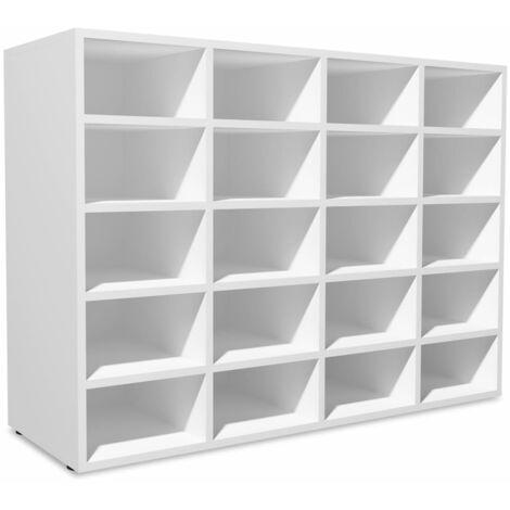 vidaXL Shoe Rack Chipboard 92x33x67.5 cm Footwear Storage Cabinet White/Oak