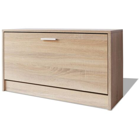 vidaXL Shoe Storage Bench Oak 80x24x45 cm - Brown