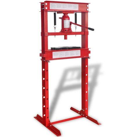 vidaXL Shop Press 20 Ton Red