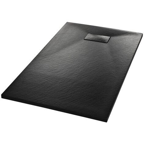 "main image of ""vidaXL Shower Base Tray SMC Black 120x70 cm - Black"""