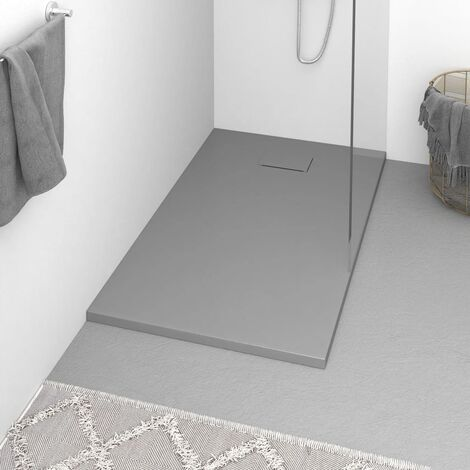 "main image of ""vidaXL Shower Base Tray SMC Grey 120x70 cm - Grey"""