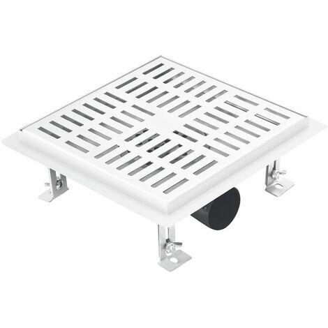 vidaXL Shower Drain Checker 20x20 cm Stainless Steel