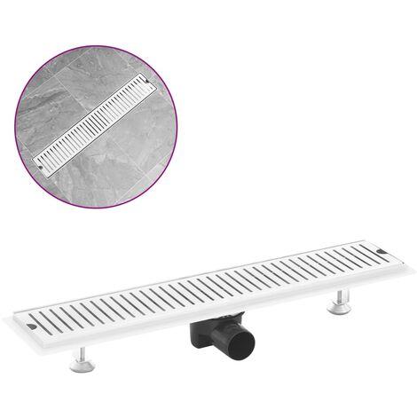 vidaXL Shower Drain Vents 63x14 cm Stainless Steel