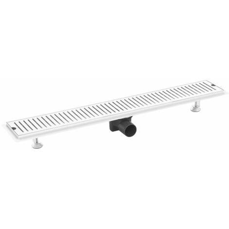 vidaXL Shower Drain Vents 83x14 cm Stainless Steel