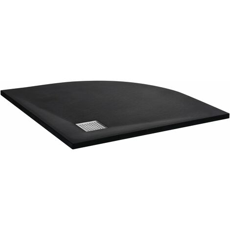 vidaXL Shower Tray SMC Black 90x90 cm - Black
