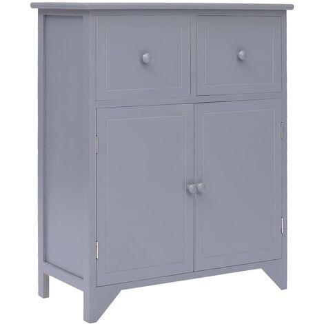"main image of ""vidaXL Paulownia Wood Side Cabinet Wooden Home Bedroom Living Room Sideboard Drawer Storage Cabinet Organiser Stand Shelf Multi Colours"""