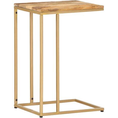 vidaXL Side Table 35x45x65 cm Solid Sheesham Wood - Brown