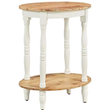 vidaXL Side Table 50x40x66 cm Solid Acacia Wood - Brown