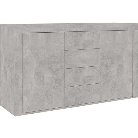 vidaXL Sideboard 120x36x69 cm Chipboard Drawer Storage Cabinet Lowboard Side Board Cupboard Bedroom Living Room Furniture Multi Colours