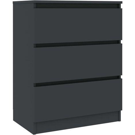 "main image of ""vidaXL Sideboard Grey 60x35x76 cm Chipboard - Grey"""