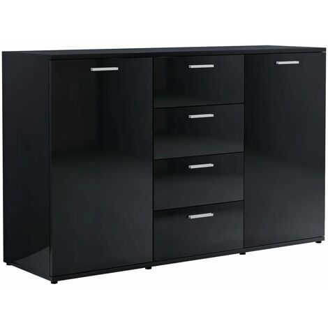 vidaXL Sideboard Easy to Clean Furniture Bedroom Chest of Drawer Standing Cupboard Side Storage Cabinet Interior Chipboard Multi Colours