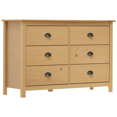 """main image of """"vidaXL Solid Pine Wood Sideboard Side Cabinet Drawer Cabinet Chests of Drawer Storage Organiser Unit Wooden Living Room Furniture Multi Colours"""""""