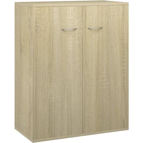 vidaXL Sideboard Living Room Bedroom Office Furniture Storage Side Cabinet Buffet Home Organiser Cupboard 60x30x75cm Chipboard Multi Colours