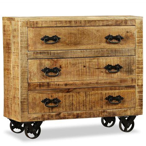 vidaXL Sideboard Living Room Furniture Heavy Duty Wooden Side Stand Storage Unit Display Cabinet Organiser Cupboard Solid Reclaimed/Rough Mango Wood