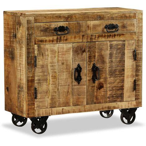 vidaXL Sideboard Living Room Furniture Wooden Side Stand Storage Display Cabinet Organiser Cupboard Solid Reclaimed Wood/Solid Rough Mango Wood