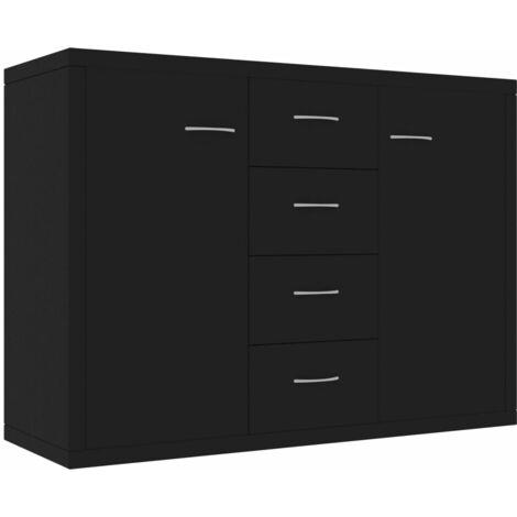 vidaXL Sideboard Storage Cabinet Home Interior Decor Living Room Bedroom Shelf Stand Furniture Organiser Buffet Server Chipboard Multi Colours