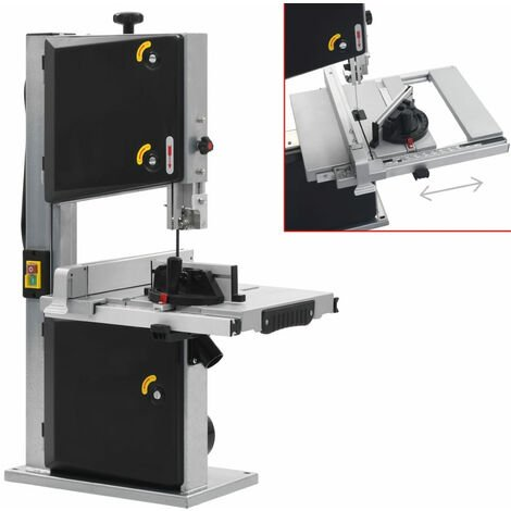vidaXL Sierra de cinta de acero ancho de corte 245 mm