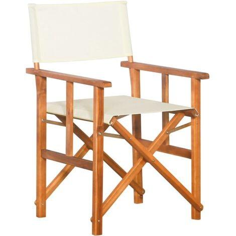 vidaXL Silla de director de madera maciza de acacia - Marrón